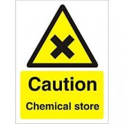 Unbranded Warning Sign Chemical Store Plastic 40 x 30 cm