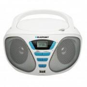 Microsistem Blaupunkt audio portabil Boombox 2X1.2W CD Player/USB/AUX Alb