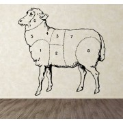 TenStickers - Stickers Autocollant mural parties mouton