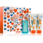 Moschino I Love Love lote de regalo IV. eau de toilette 50 ml + gel de ducha y baño 100 ml + leche corporal 100 ml
