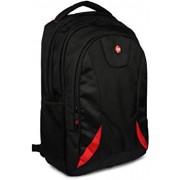 Porro Fino Laptop Bag/Backpack For 15.6 Inch Laptops HP Laptop Bag/Backpack (Premium Black/Red)