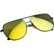 NuVew Retro Square Sunglasses(Golden)