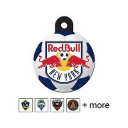 Quick-Tag MLS Circle Dog & Cat ID Tag, Large, New York Red Bulls