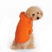 YAN Primavera Otoño Mascota Perro Perro Gato Ropa Abrigo Cachorro Sudadera con Capucha Ropa de algodón Suave (Color : Orange, Size : L)