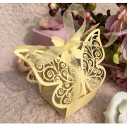 Darčeková krabička Motýľ zlatá