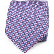 Krawatte Seide Blau Rot Motiv K81-16 - Blau