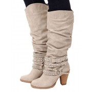Buckle Strap Heeled Boots