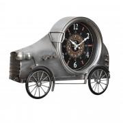 [en.casa]® Nástěnné hodiny ve tvaru Oldtimeru - analogové - 37 x 8 x 25 cm - barevné – sklo