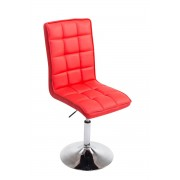 CLP Silla de comedor Peking V2, rojo rojo, altura del asiento