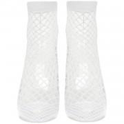 white fishnet socks