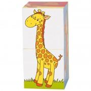 Primele mele cuburi Animale Prietenoase, 2 cuburi, 6 animalute incluse