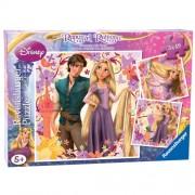Puzzle Rapunzel, 3x49 piese, RAVENSBURGER
