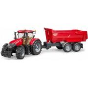 BRUDER® speelgoedtractor met aanhanger, »Case IH Optum 300 CVX, met halfpipe-aanhanger, 1:16, rood«