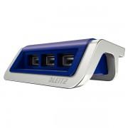 Încărcător cu trei porturi USB Leitz Style, albastru-violet
