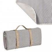 [casa.pro]® Одеяло за пикник, излет, 200 x 147 cm, Сиво райе