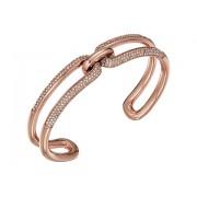 Michael Kors Iconic Link Pave Open Cuff Bracelet Rose Gold