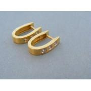 Zlaté náušnice dámske žlté zlato kamienky zirkónu DN345Z