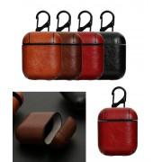 Калъф за слушалки Apple AirPods + ключодържател 'Leather' (черен)