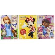 Disney® Coloring and Activity Book Assortment; Minnie Mouse, Princess Sofia, Doc Mcstuffins (3 Book
