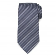 Tie with grey and blue strips 9796