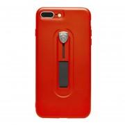 Funda para Iphone 7 / 8 Plus Jyx Accesorios Silicon Con Banda Sujetador - Rojo