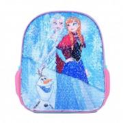 Ghiozdan gradinita 12'' Frozen Ana si Elsa - paiete reversibile