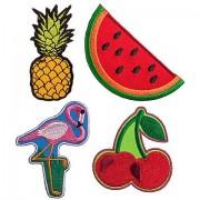 """buttinette Applikationen """"Tropical"""", Größe: 3 - 8 cm, Inhalt: 4 Stück"""