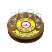 Boldog szülinapot 20-as 6db 1,5cl FT003 - Tréfás Pálinkás kör pohár szett