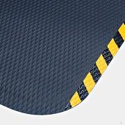 Černo-žlutá protiúnavová protiskluzová rohož - délka 61 cm, šířka 84 cm a výška 2,2 cm (87660072) FLOMAT