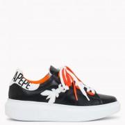 Patrizia Pepe Sneakers Donna in Pelle colore Nero - Arancione
