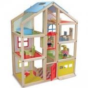 Дървена къща за кукли с обзавеждане, 12462 Melissa and Doug, 000772124621