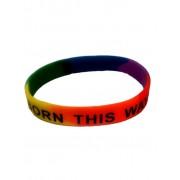 DBE Born This Way Silicone Armband Rainbow