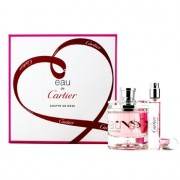 Eau De Cartier Goutte De Rose Coffret: Eau De Toilette Spray 50ml/1.6oz + Eau De Toilette Spray 9ml/0.3oz 2pcs Eau De Cartier Goutte De Rose Комплект: Тоалетна Вода Спрей 50мл + Тоалетна Вода Спрей 9мл