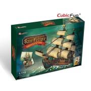 Cubicfun Corabia San Felipe Puzzle 3D 284 de piese