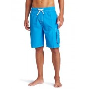 Kanu Surf Men's Barracuda Extended Size Swim Trunk, Lake Blue, 4X