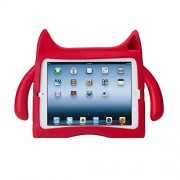 Ndevr iPadding Kids Friendly Children Safe Protective Safe Eva Foam Shock Proof Sound Tunnel Adjustable Angle Stand Case Cover for Apple iPad 4/3/2, Red IPD-X01-RD-NDR000