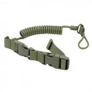 Correa exterior pistola tactica del arnes de seguridad / perro - verde del ejercito (120 cm)