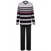 Babista herenmode Pyjama BABISTA grijs/aubergine/zwart