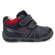 Geox Sneakers en Cuir New Balu marine/rouge