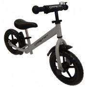 """Capetan® Energy Plus Ezüst színű 12"""" kerekű futóbicikli sárhányóval és csengővel - pedál nélküli gye"""