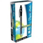Papermate Flexgrip Ultra - 12 penne a sfera a scatto 1mm Nero
