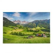 ALAZA Jigsaw Puzzle 500 piezas, Europa Alpes de Montaña Grande Educativo de Descompresión Intelectual Puzzle Juego Casa Arte de Pared para Adultos y Adolescentes