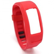 Aggice Garmin Vivofit 2 Smart Band Replacement Color Wrist Strap (Red Large)
