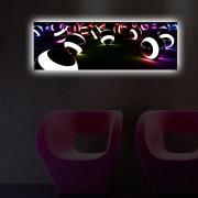 Tablou pe panza iluminat Shining, 239SHN3274, 30 x 90 cm, panza