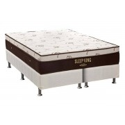 Conjunto Box-Colchão Pocket Sleep King Látex Ortobom+Cama Box White - King 193