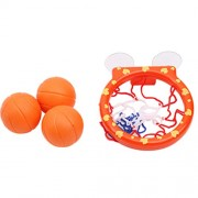 YeahiBaby Baby Bath Toy Basketball Hoop Ball Playset with Suction Cup Net and 3 Balls Bathtub Floating Toys