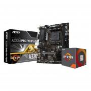 Micro Procesador Amd Ryzen 5 2400g 3.9 Ghz + Tarjeta Madre A320