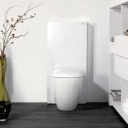 Modul pentru WC stativ Geberit model Monolith sticla alba/aluminiu