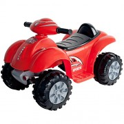 Lil Rider Battery Powered Red Raptor 4 Wheeler, Red