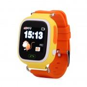 Ceas inteligent pentru copii GW100 Portocaliu cu telefon localizare GPSWiFi si functie monitorizare spion